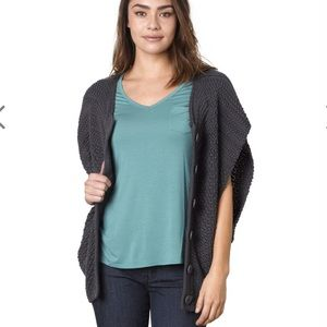 Prana Estee Sweater vest in coal color